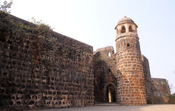 Shirgaon fort, Indien royaltyfria foton