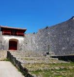 Shirijo城堡门 库存图片