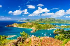 Shirley Heights, Antigua and Barbuda. View from the overlook royalty free stock photos