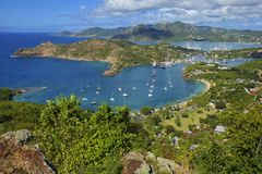 Shirley heights in Antigua, Caribbean Royalty Free Stock Photos