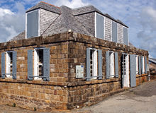 Shirley Heights, English Harbour, Antigua and Barbuda, Caribbean. Historic Guard House on Shirley Heights, English Harbour, Antigua and Barbuda, Caribbean royalty free stock image