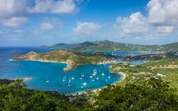 An aerial view of Antigua stock images