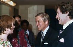 Shirley MacLaine, Charles Percy, Hugh O 'Brian stock foto