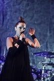 Shirley Manson de la BASURA se realiza en etapa el 13 de noviembre de 2012 en Minsk, Bielorrusia Imagen de archivo