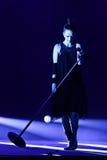 Shirley Manson des DÉCHETS exécute sur l'étape le 13 novembre 2012 à Minsk, Belarus Images libres de droits
