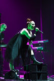 Shirley Manson from GARBAGE performs on stage on November 13, 2012 in Minsk, Belarus Stock Photo