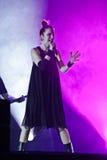 Shirley Manson van HUISVUIL presteert op stadium op 13 November, 2012 in Minsk, Wit-Rusland Royalty-vrije Stock Afbeeldingen