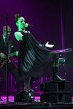 Shirley Manson van HUISVUIL presteert op stadium op 13 November, 2012 in Minsk, Wit-Rusland Royalty-vrije Stock Afbeelding