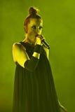 Shirley Manson van HUISVUIL presteert op stadium op 13 November, 2012 in Minsk, Wit-Rusland Royalty-vrije Stock Foto's