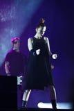 Shirley Manson vom ABFALL führt am Stadium am 13. November 2012 in Minsk, Weißrussland durch Lizenzfreie Stockbilder
