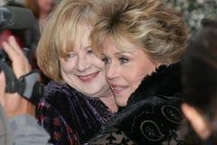 Shirley Ritter und Jane Fonda Stockbilder