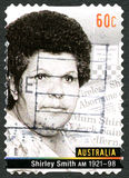 Shirley Smith Australian Postage Stamp Lizenzfreies Stockfoto