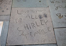 Shirley Temple Footprints royalty free stock photography
