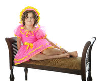 Shirley Temple Impersonator Sitting Pretty Lizenzfreies Stockfoto