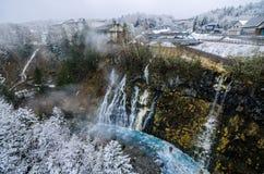 Shirogane瀑布 库存图片