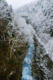 Shirohige瀑布 免版税库存照片