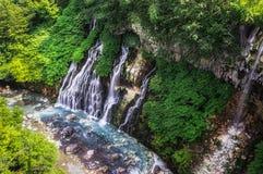 Shirohige vattenfall Arkivbilder