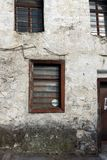 Nineteenth century houses in historical town of Shiroka Laka, Smolyan Region, Bulgaria stock image