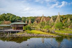 Shirotori Garden, a Japanese garden in nagoya. The Shirotori Garden is a Japanese-style garden with a path running along the banks of streams and ponds. The area royalty free stock photos