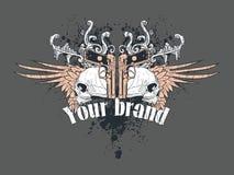Shirt-Auslegung-Abbildung Lizenzfreie Stockfotos