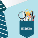 Shirt of Back to school conceptual with office supply. Stock Photography