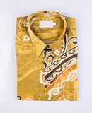 shirt or batik shirt for man's on background. Royalty Free Stock Image