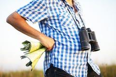 Shirt binoculars hiking map Royalty Free Stock Photos