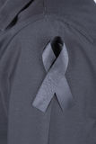 Shirt with black ribbons as a sign of mourning Royalty Free Stock Photos