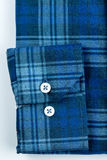 Shirt with blue stripes. Blue-checked shirt with blue stripes Stock Images