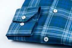 Shirt with blue stripes. Blue-checked shirt with blue stripes Stock Image