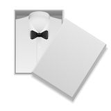 Shirt and bow tie in box Stock Images
