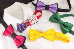 Shirt and bow ties Royalty Free Stock Photos