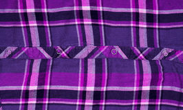 Shirt checkered textile fabric texture useful as a background Royalty Free Stock Photo