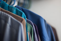 Shirt in the closet Stock Photography