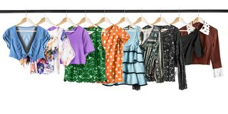 Shirt on clothes racks Royalty Free Stock Images