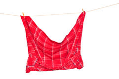Shirt on a clothesline Stock Image
