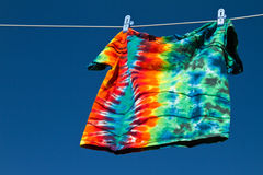 Shirt on clothesline Royalty Free Stock Photography