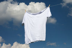 Shirt on clothesline. Stock Image