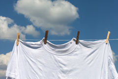 Shirt on clothesline. Stock Photos