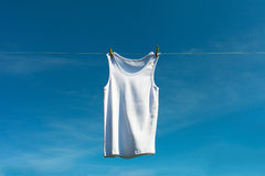 Shirt on clothesline. Royalty Free Stock Photo