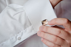 Shirt with a cufflink Royalty Free Stock Photos