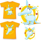 Shirt with cute aardvark illustration. Vector Royalty Free Stock Image