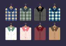 Shirt fashion on hangers,Vector illustrations royalty free stock image