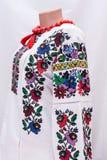 shirt female national folklore, a folk costume Ukraine,  on gray white background Royalty Free Stock Photo