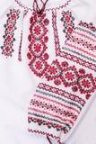 Shirt female national folklore, a folk costume Ukraine, isolated on gray white background Stock Images