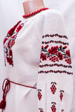 Shirt female national folklore, a folk costume Ukraine, isolated on gray white background Stock Photos