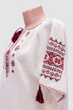Shirt female national folklore, a folk costume Ukraine, isolated on gray white background Royalty Free Stock Photo