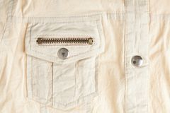 Shirt flap patch-pocket Royalty Free Stock Images
