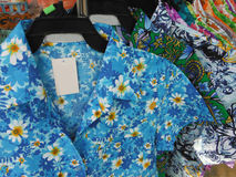 Shirt with flower pattern. Royalty Free Stock Photo