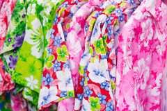 Shirt with flower pattern Stock Images